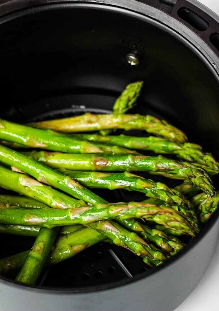 roasted air fryer asparagus