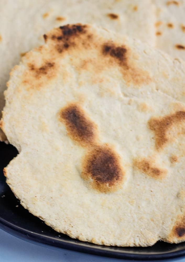 close up of flatbread