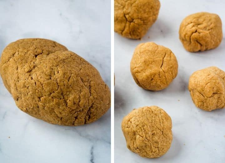 balls of dough