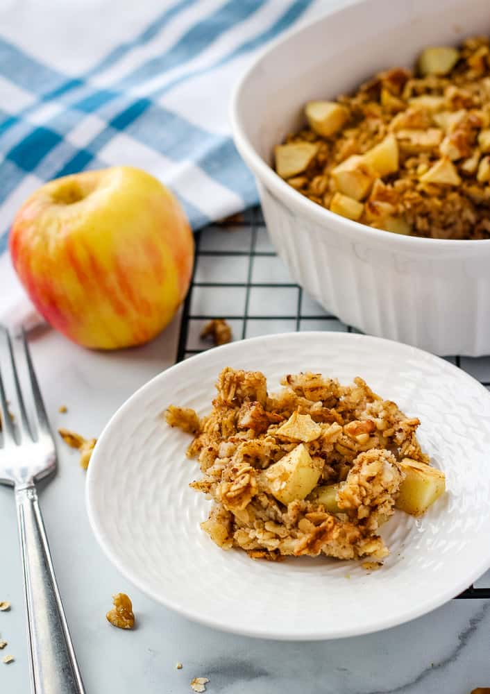 single serving of apple baked oatmeal