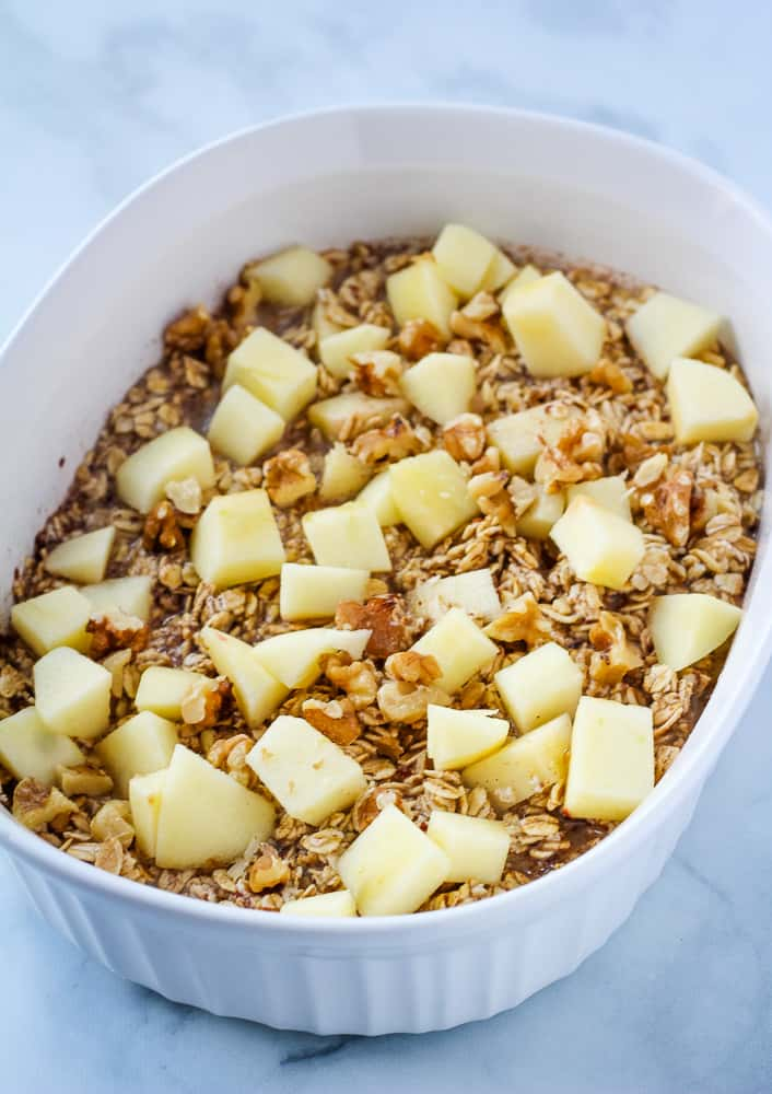 oats topped with apples