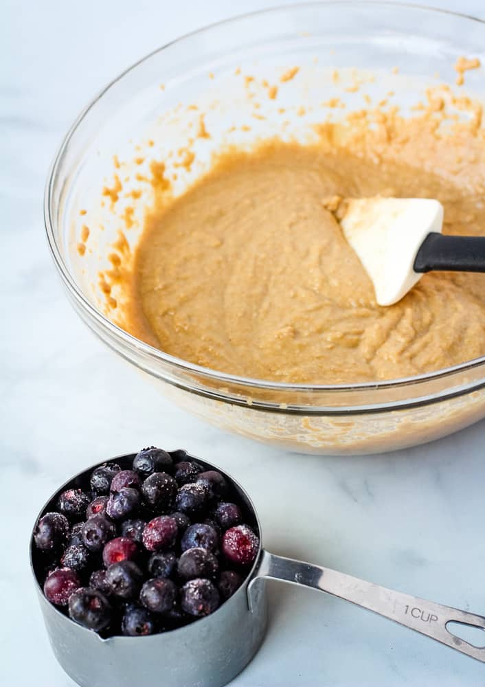 vegan blueberry cake batter