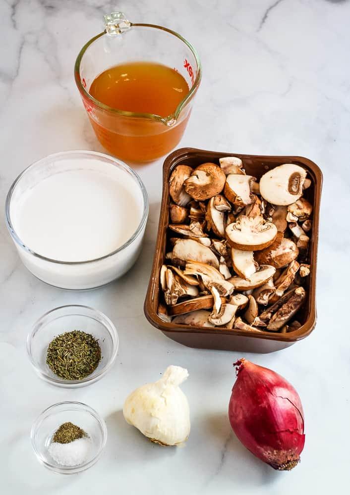 vegan mushroom soup ingredients