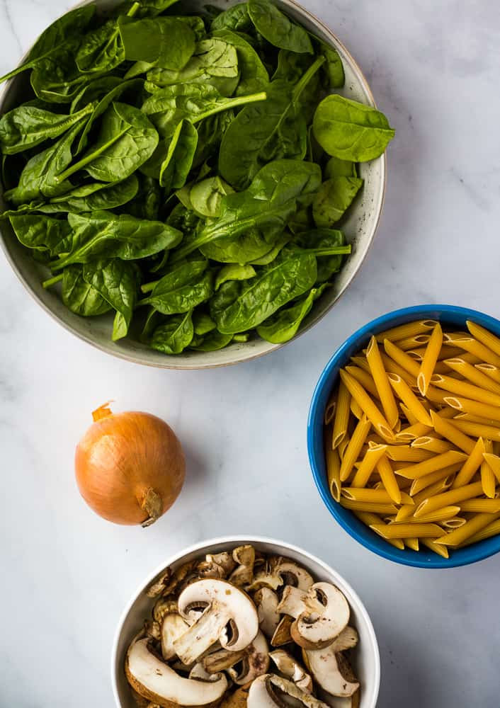 vegan mushroom pasta ingredients