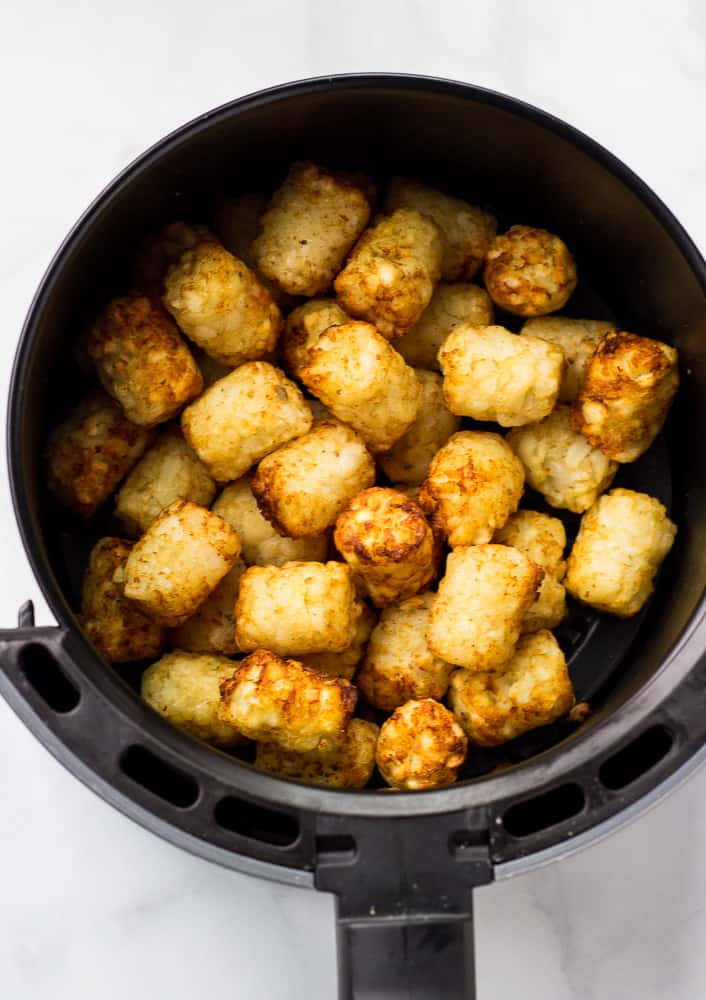 tater tots in air fryer basket