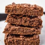 stack of chickpea brownies