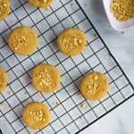 chickpea cookies on cooling rack