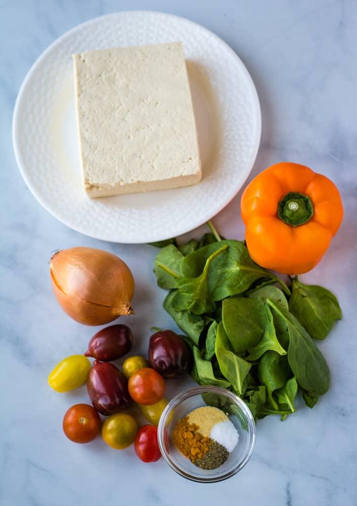 silken tofu scramble ingredients