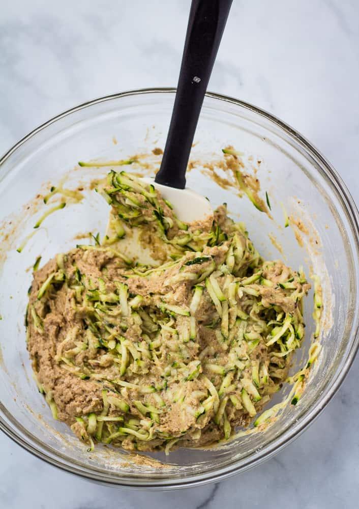 zucchini vegan muffin batter