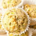 Easy vegan zucchini muffins.