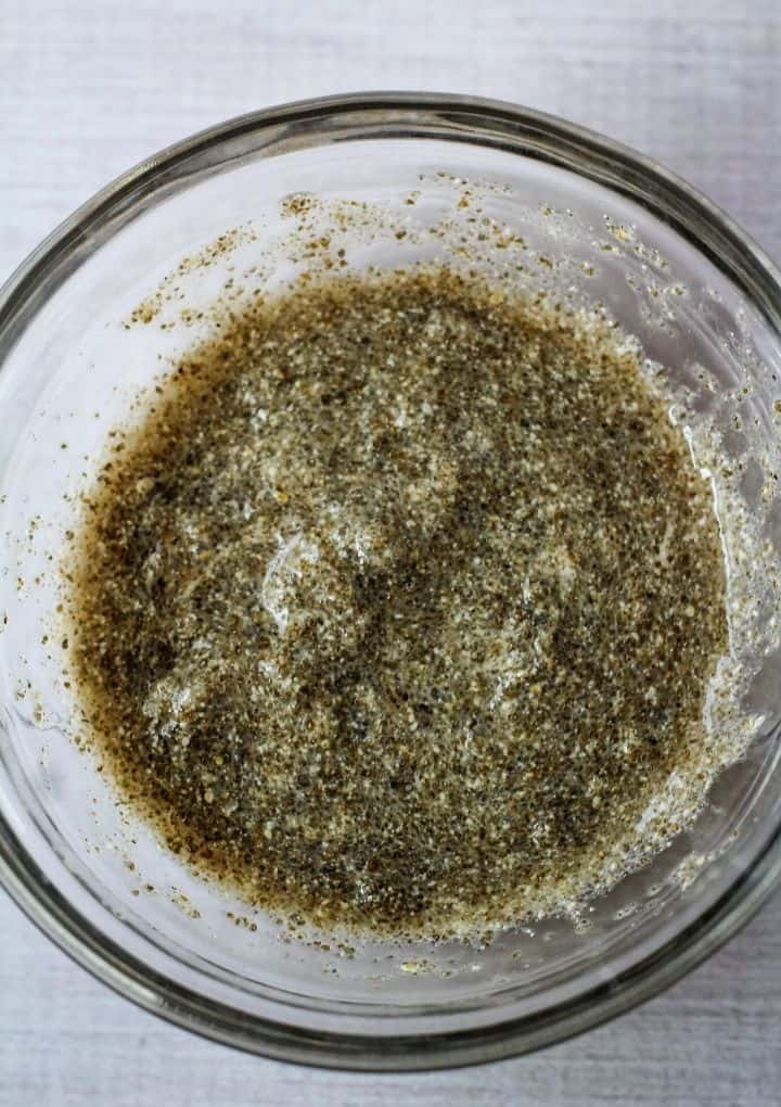 chia paste in glass bowl