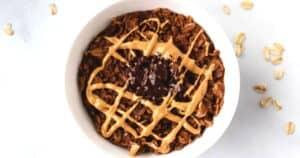 overhead of brownie oatmeal