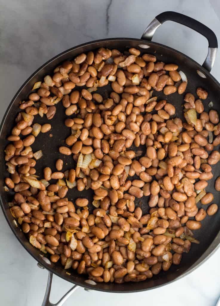pinto beans in skillet