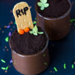 halloween graveyard pudding cup