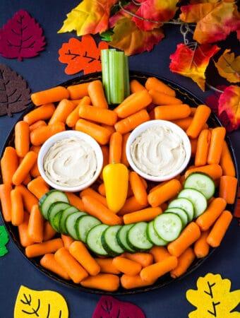 pumpkin veggie tray