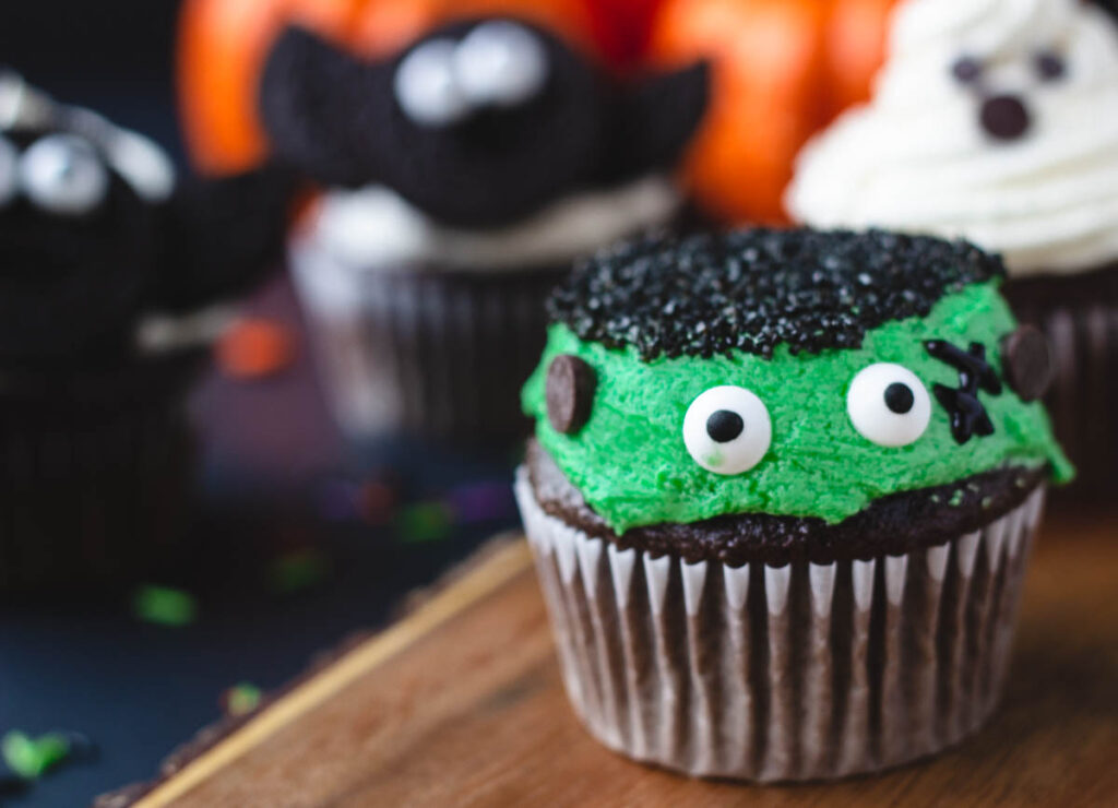 frankenstein monster cupcake