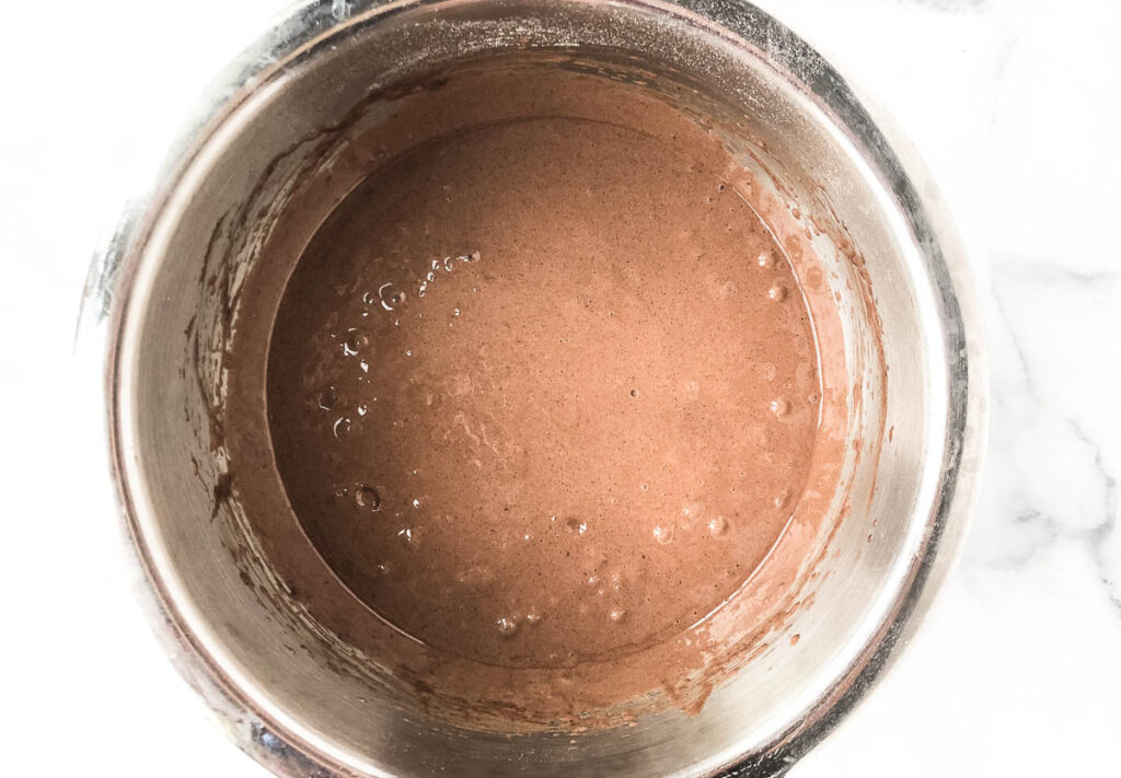 chocolate cupcake batter