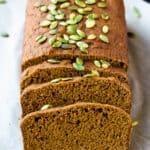 vegan pumpkin bread loaf