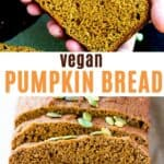 vegan pumpkin bread
