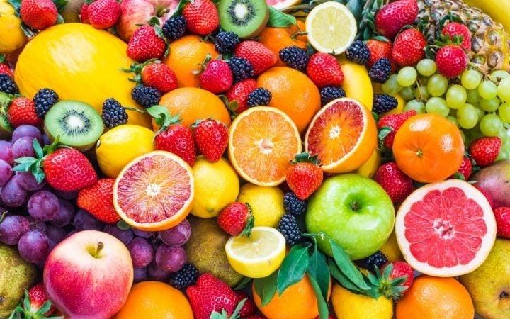 plant-based breakfast ideas: assorted fruit
