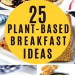 25 plant-based breakfast ideas collage