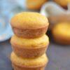 stack of cornbread muffins