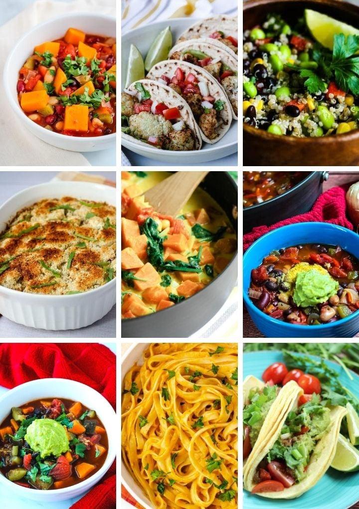 vegan pre meals collage