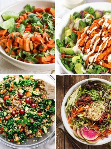 vegan salad recipes collage
