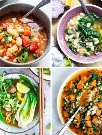 vegan soup recipes collage