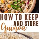 how to keep and store quinoa