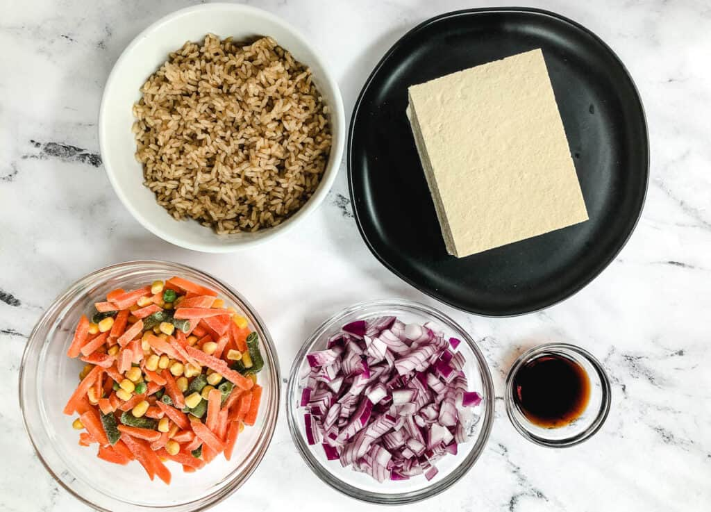 vegan tofu fried rice ingredients