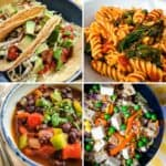 lazy vegan recipes collage