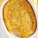 vegan corn casserole in baking dish