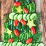 Christmas veggie tray