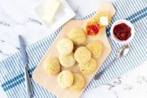 dairy free biscuits on cutting board