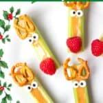 reindeer celery snacks on holiday platter