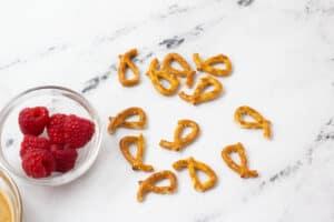 broken pretzel pieces
