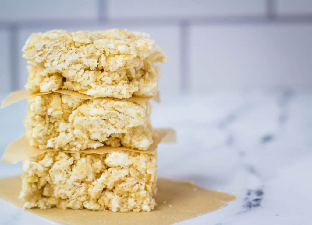 stack of rice krispie treats