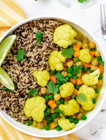vegan cauliflower curry