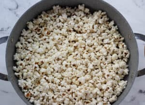 pot filled with popcorn