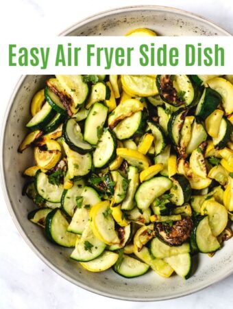 zucchini and yellow squash side dish in serving bowl