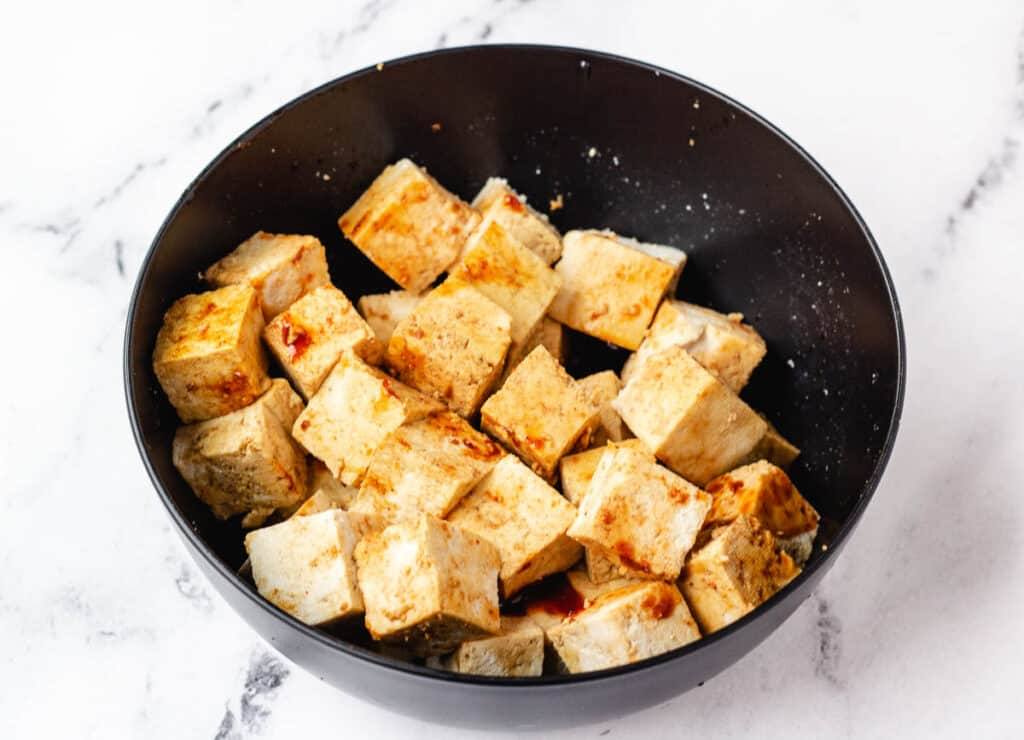tofu covered in marinade