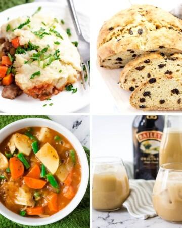 vegan Irish Recipes: shepherd's pie, soda bread, Irish stew, Irish cream