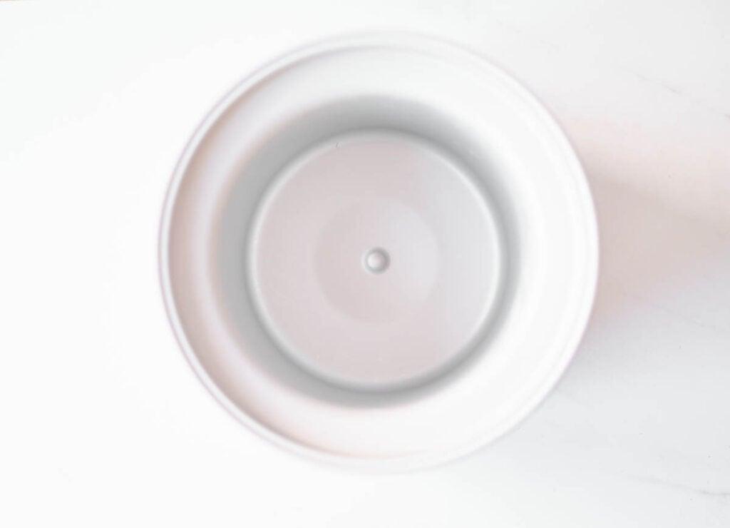 empty frozen ice cream bowl
