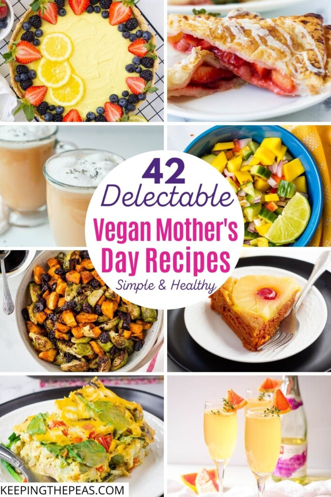 vegan Mother's Day recipes collage