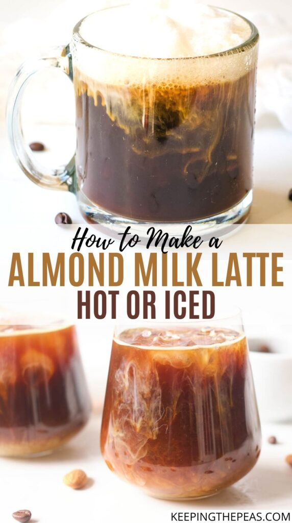 almond milk latte hot and iced