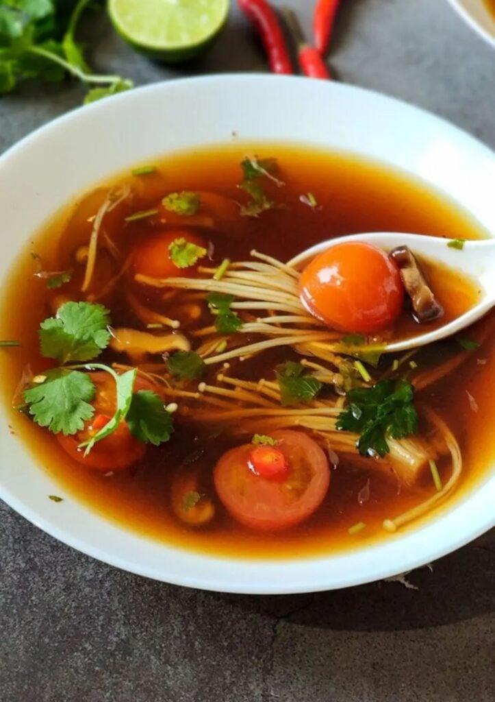 Mushroom Tom Yum Soup