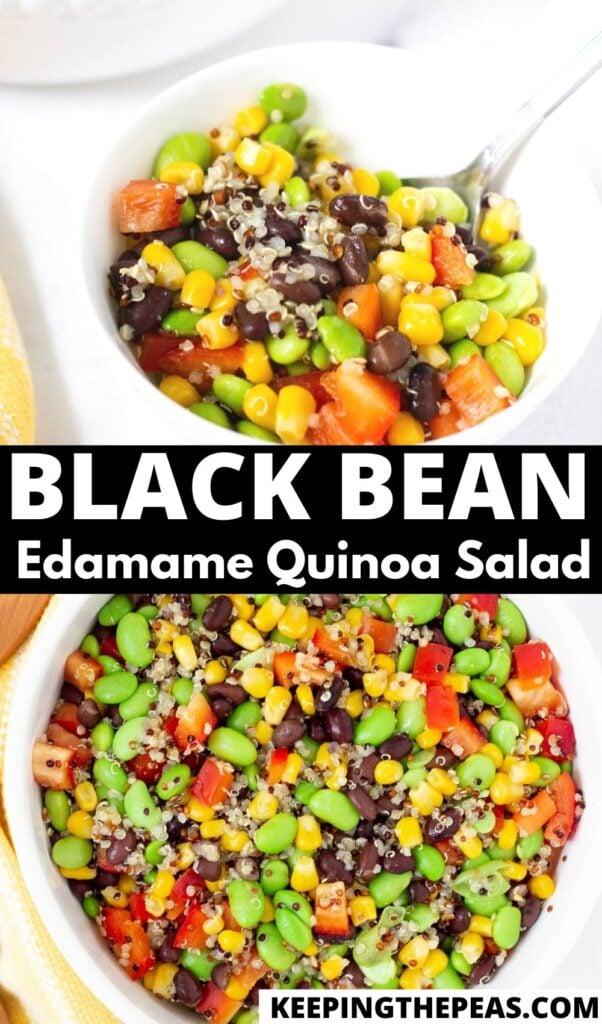 black bean edamame quinoa salad