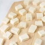 tofu block in tofu press