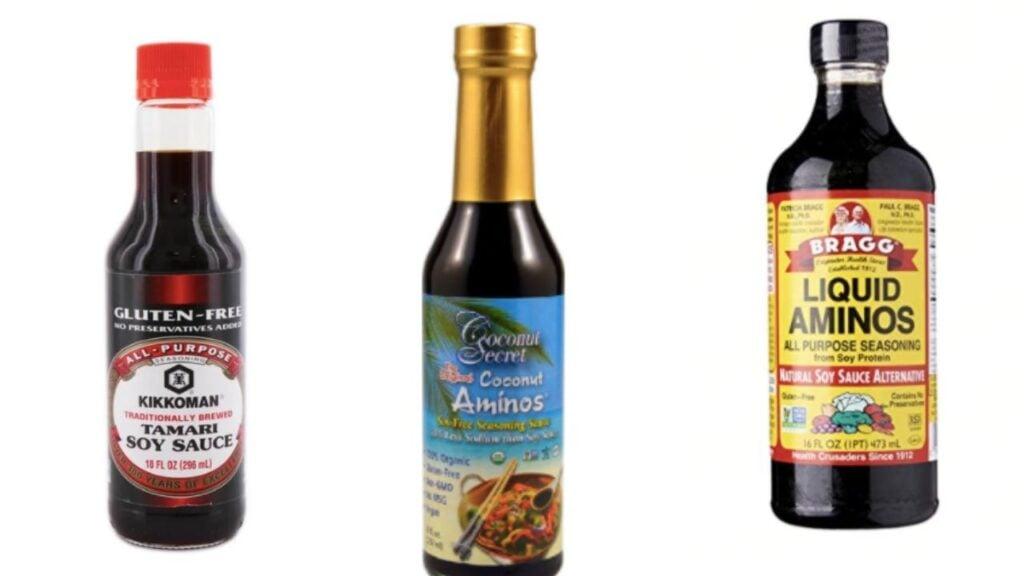 soy sauce substitutes: tamari, coconut aminos, and liquid aminos